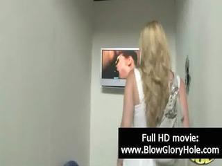 gloryhole - hot busty babes love sucking weenie 46