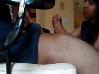 Indian wife gives great handjob