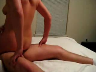 slutty redhead wife eats his wang and then goes