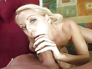 hot blond mother i in white underclothes gives