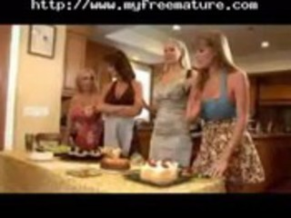 granny housewives seduces youthful fortunate lad