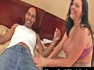 large boobs milf angelica acquires facial from