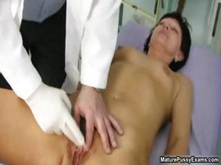 old doctor inspecting a hirsute older mom part9