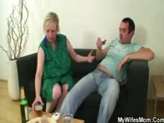 dick hungry mamma jumps on her son on law