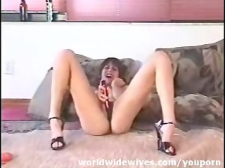 dilettante wife with her toy
