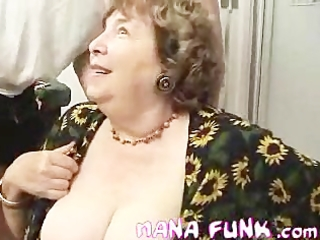 granny blowing white dick
