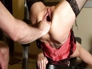 lewd d like to fuck fist drilled in her gaping