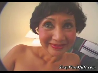 sexy granny toying with marital-device