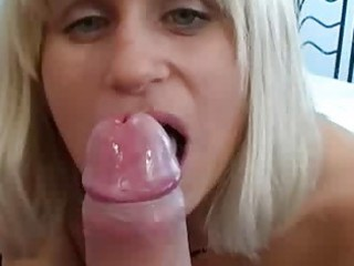 Shy wife sucks her boyfriends cock for him on cam