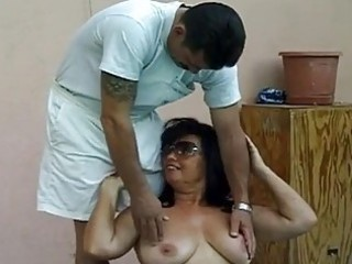 sexy breasty granny drilled by huge jock