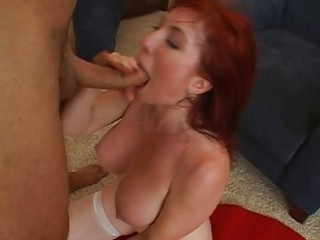 cute breasty redhead d like to fuck getting hard