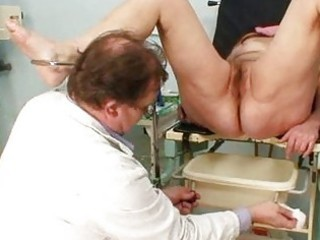 mature exam at gyno office