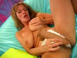 busty blond mommy with a bushy love tunnel is