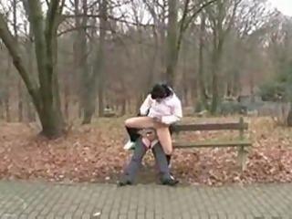 Old man fucks dirty teen girl in the public