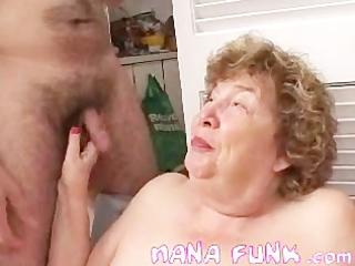 hot granny engulfing juvenile white schlong