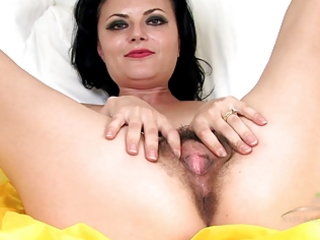 mature shaggy vivienne squirts on the couch
