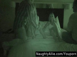 foursome on night vision web camera - wife