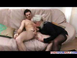 older blonde russian elena blows his rod and then