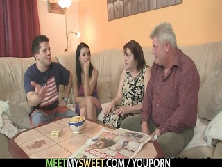 she is is tempted by his old parents