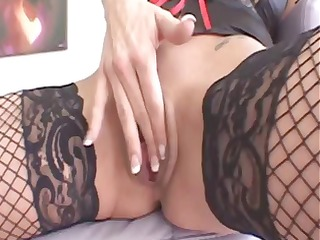redhead porn star takes a dark guys cock in her
