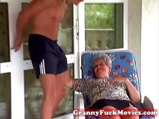 granny eve engulfing hard young jock