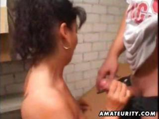 aged amateur wife homemade anal with facial jizz