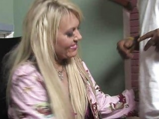 horny son watches his golden-haired mama drilled