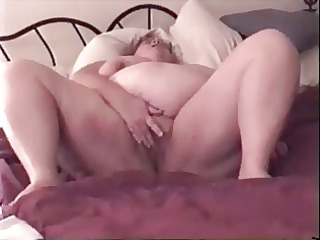 big beautiful woman wife playing with her wet