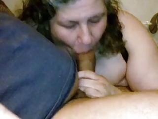 married older neighbor makes my bbc cum - amateur
