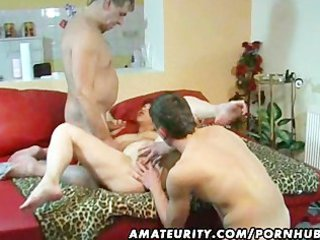non-professional mother i in a fmm three-some