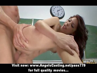 cute redhead riding weenie and screwed hard and