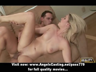 cute blonde screwed hard from behind and having