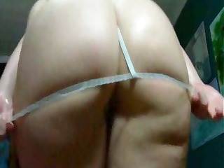 chubby white cutie displays her chunky derriere