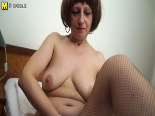 hot non-professional mother of playing with her