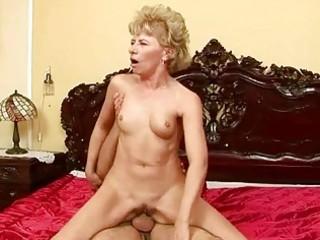 lusty grandma enjoys hard sex with a lad