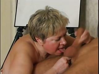 Russian granny loves cock