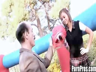 mia lina - playground fuck with an old boy
