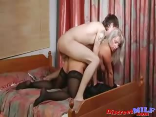 aged russian cougar screwed by sex toy and shlong