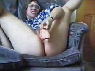 Milf wit big ass goes crazy wit dildo..