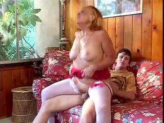 lascivious grandmother sucks, fucks her grandson