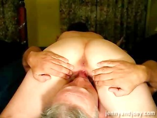 short-haired redheads shaven muff receives filled