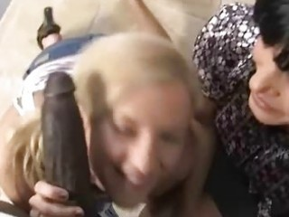 mother and daughter team-fucked by a darksome boy