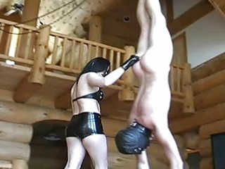 older mistress honeys bizarre balls busting