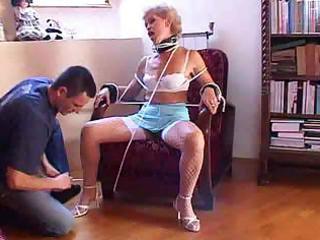 experienced horny granny gets three-some mighty