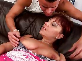 mature redhead nika works a pounder