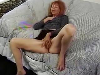 older redhead trudy true masturbates before