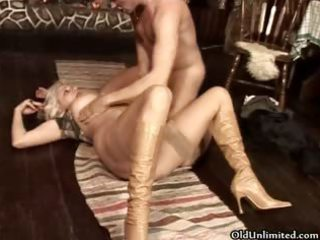 Horny mature  gets fucked and sucking