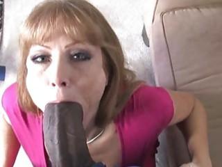 Horny milf bitch enjoys a good black dick