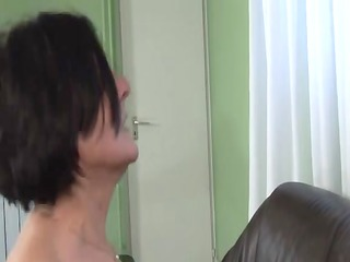 mature granny with unshaved bush fucked by