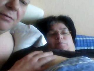 excited fat non-professional wife acquires her
